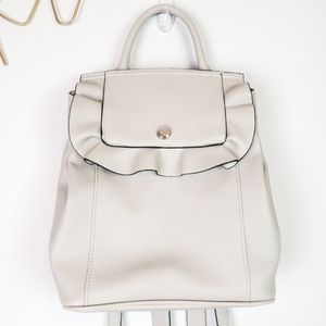 {Nine West} NWOT - White Ruffle Backpack